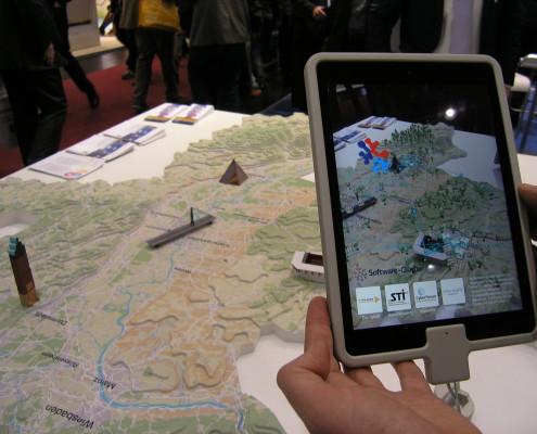 Reliefmodell mit AR Anwendung